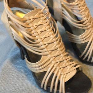 Women's size 8 Nude stiletto heel sandals
